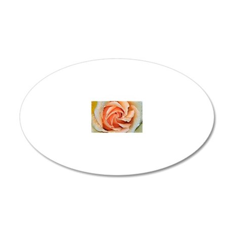Orange rose 20x12 Oval Wall Decal