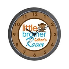 Custom Little Brother Monkey Clock Wall Clock