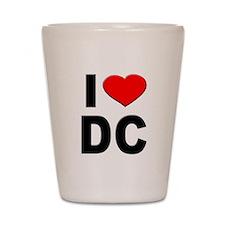 I Heart DC Shot Glass