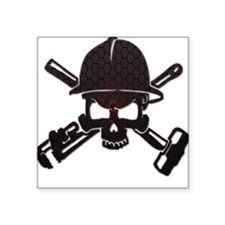 Red and Black Honeycomb Oilfield Skull Sticker