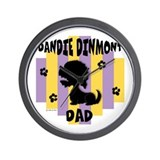 Dandie Dinmont Dad Wall Clock
