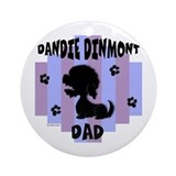 Dandie Dinmont Dad Ornament (Round)