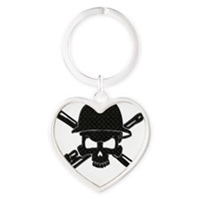 black diamond plate oilfield skull Keychains