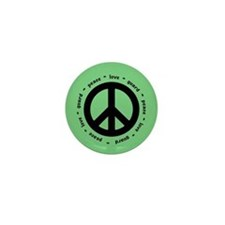 peace * love * guard (MINT) Mini Button