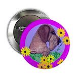 Mini Wirehaired Dachshund Button