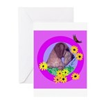 Mini Wirehaired Dachshund Greeting Cards (Package