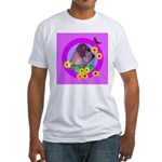 Mini Wirehaired Dachshund Fitted T-Shirt