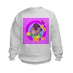 Mini Wirehaired Dachshund Kids Sweatshirt
