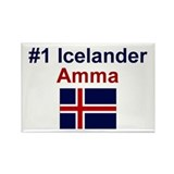 Iceland #1 Amma Rectangle Magnet