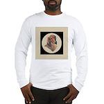 Longhaired Dachshund head stu Long Sleeve T-Shirt