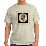 Longhaired Dachshund head stu Light T-Shirt