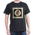 Longhaired Dachshund head stu Dark T-Shirt