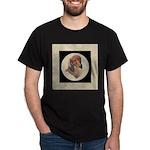 Longhaired Dachshund head stu Dark T-Shirt