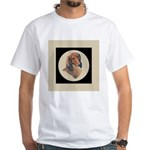 Longhaired Dachshund head stu White T-Shirt