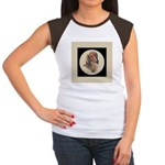 Longhaired Dachshund head stu Women's Cap Sleeve T