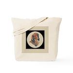 Longhaired Dachshund head stu Tote Bag