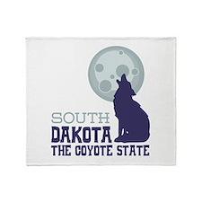 SOUTH DAKOTA THE COYOTE STATE Throw Blanket