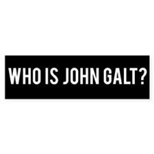 Who Is John Galt Bumper Car Sticker
