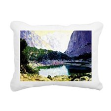 Twin Lakes, High Sierras Rectangular Canvas Pillow