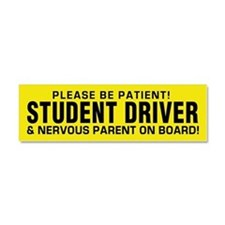 Student Driver And Parent Car Magnet 10 X 3