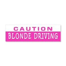 Blonde Driving Car Magnet 10 X 3