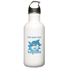 Dolphins Soccer Water Bottle