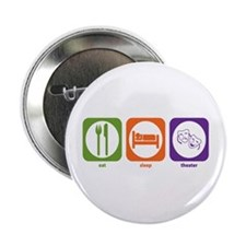 "Eat Sleep Theater 2.25"" Button (10 pack)"