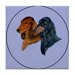 Dachshund Duo Tile Coaster