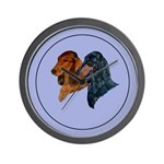 Dachshund Duo Wall Clock