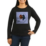 Dachshund Duo Women's Long Sleeve Dark T-Shirt