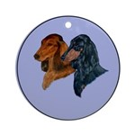 Dachshund Duo Ornament (Round)