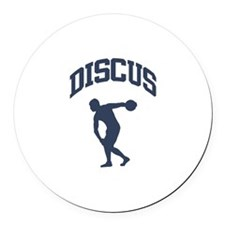 Discus Thrower Round Car Magnet