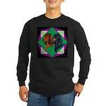 Dachshund Pair Long Sleeve Dark T-Shirt
