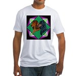 Dachshund Pair Fitted T-Shirt
