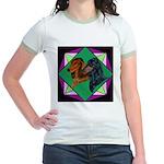 Dachshund Pair Jr. Ringer T-Shirt