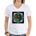 Dachshund Pair Women's V-Neck T-Shirt
