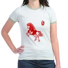 Asian Horse - Womens Ringer Shirt