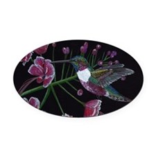 Hummingbird Oval Car Magnet