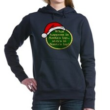 Santa's Lap Button.png Hooded Sweatshirt