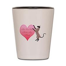 Valentine Cat Shot Glass