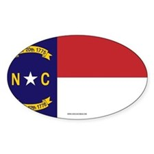 North Carolina Flag, NC State Flag Decal