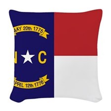 North Carolina Flag, NC State Flag Woven Throw Pil
