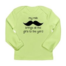 Milk Mustache Long Sleeve Infant T-Shirt