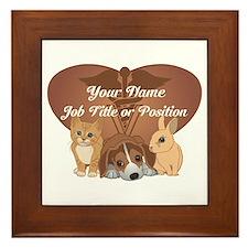 Personalized Veterinary Framed Tile