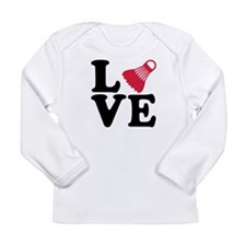 Badminton love Long Sleeve Infant T-Shirt