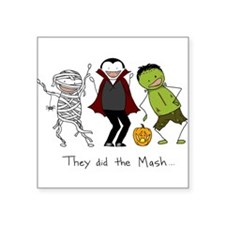 "Monster Mash - Halloween Square Sticker 3"" x 3"""