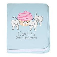 Cavities baby blanket