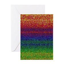 Rainbow Knit Photo Greeting Card