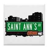 Saint Ann's Av, Bronx, NYC  Tile Coaster