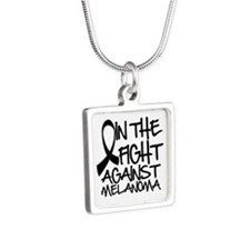 In The Fight Against Melanoma Silver Square Neckla